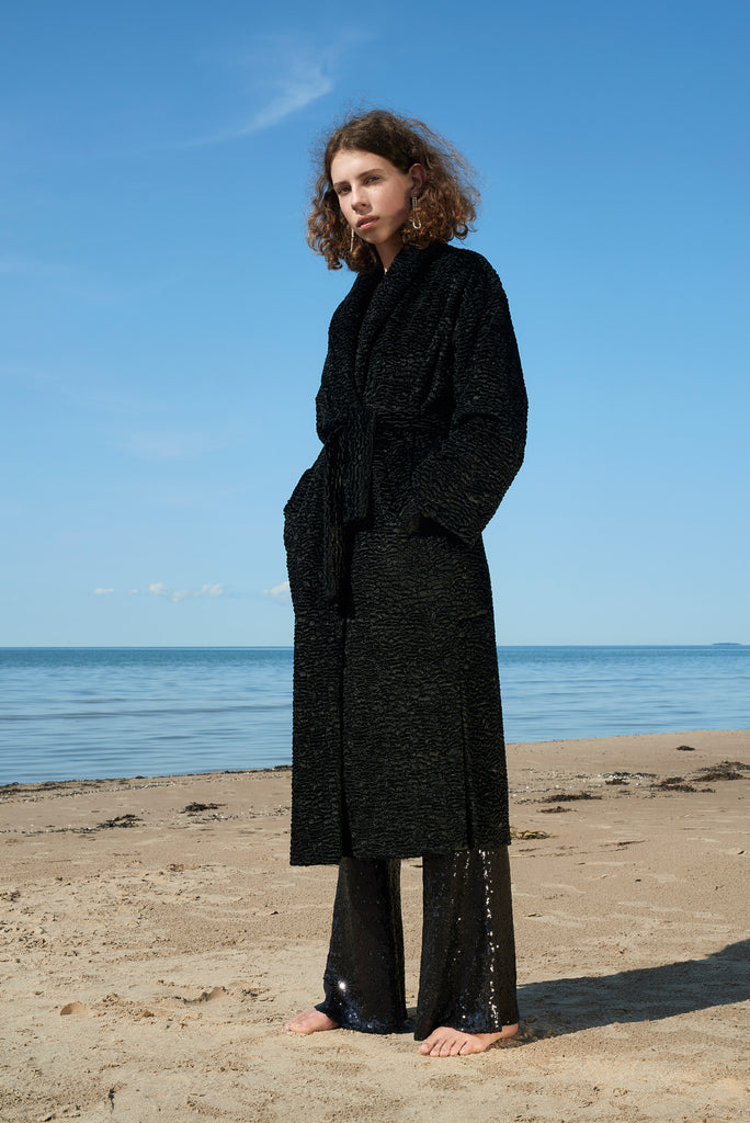 LFS REVERSIBLE KARAKUL ROBE COAT