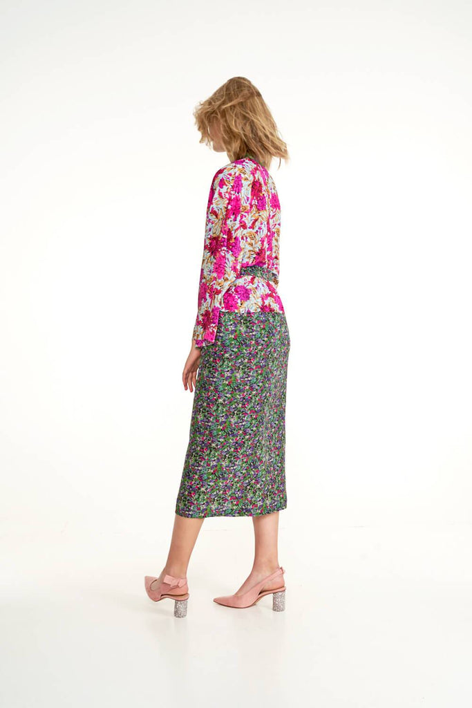 Longing-For-Sleep-by-Marit-Ilison-2020-Collection-1-Mixed-Print-Silk-Kimono-In-Floral-Back