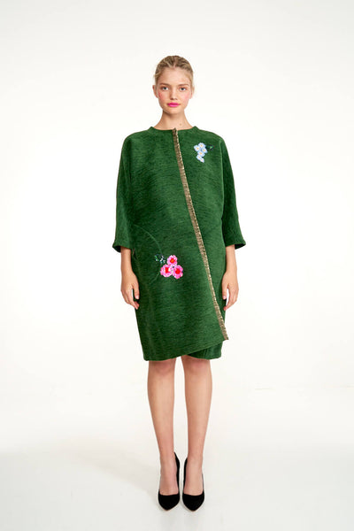Embroidered Reversible Classic Coat