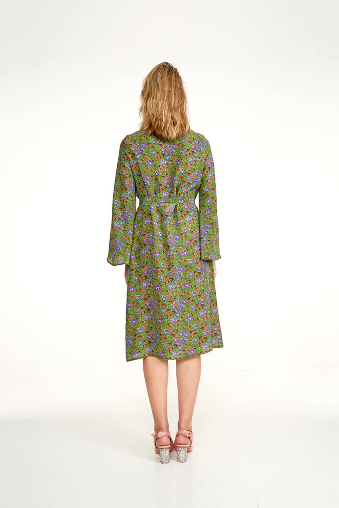 Longing-For-Sleep-by-Marit-Ilison-2020-Collection-1-Midi-Silk-Wrap-Dress-In-Cranesbill-Green-Back