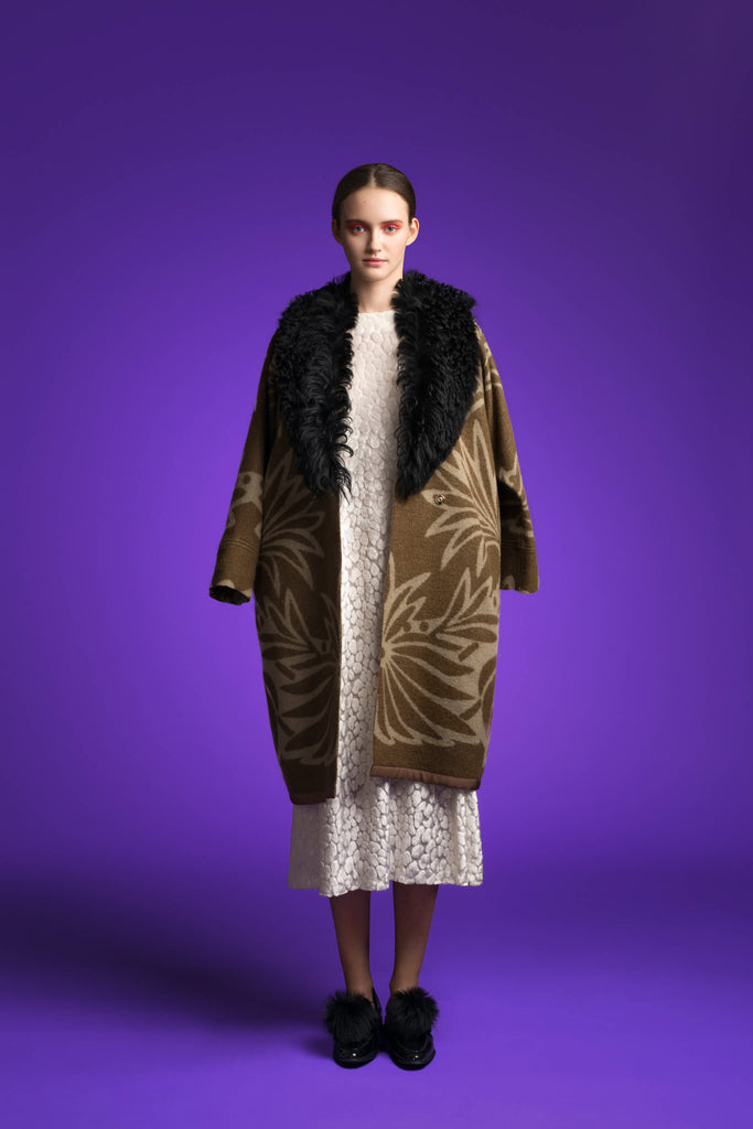 LFS REMOVABLE SHEEPSKIN COLLAR COAT