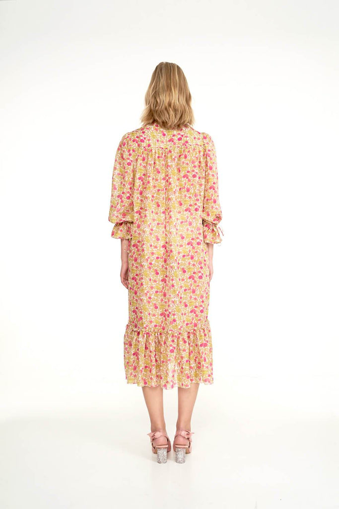 Longing-For-Sleep-by-Marit-Ilison-2020-Collection-1-Silk-Boho-Dress-In-Vintage-Humulus-Rose-Back