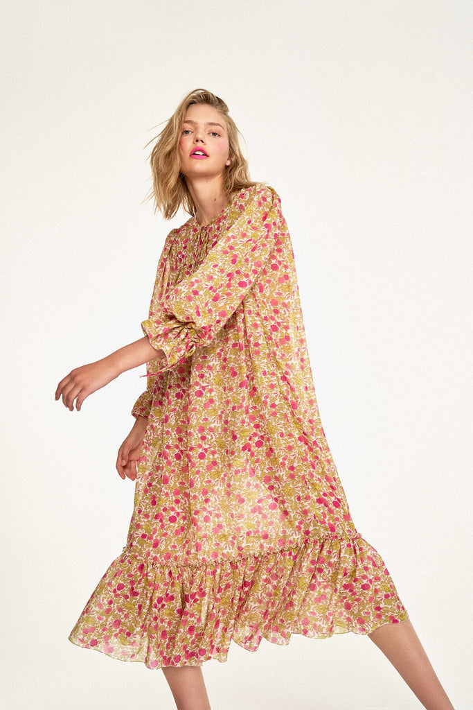 Longing-For-Sleep-by-Marit-Ilison-2020-Collection-1-Silk-Boho-Dress-In-Vintage-Humulus-Rose