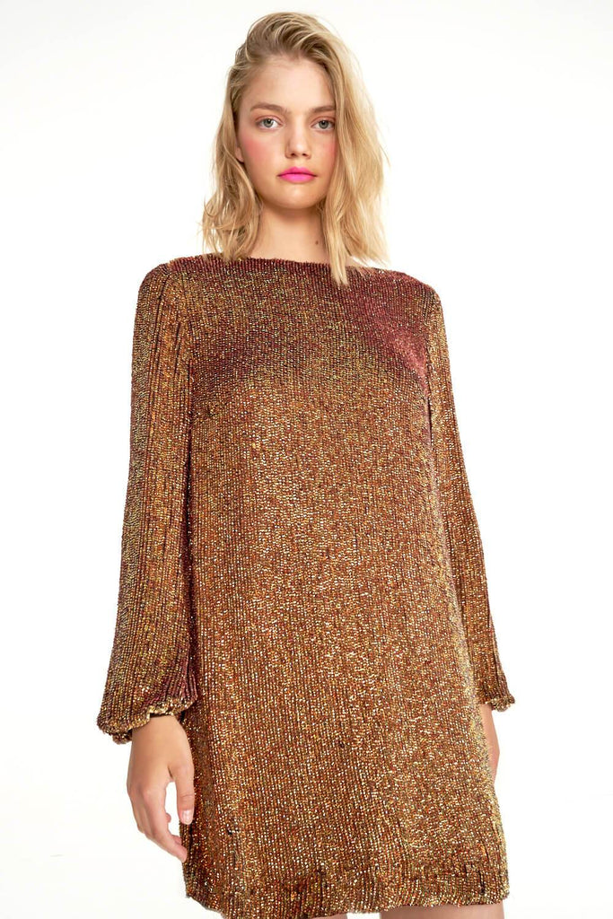 Bell-Sleeve-Mini-Dress-In-Bronze-AB