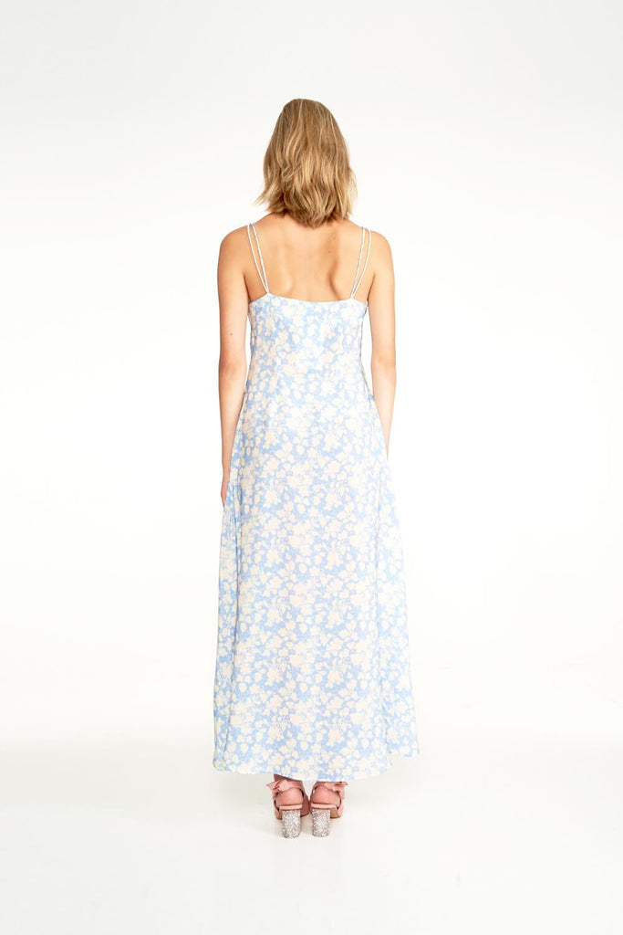 Longing-For-Sleep-by-Marit-Ilison-2020-Collection-1-Long-Pearl-Slip-Dress-In-Cranesbill-Blue-Back