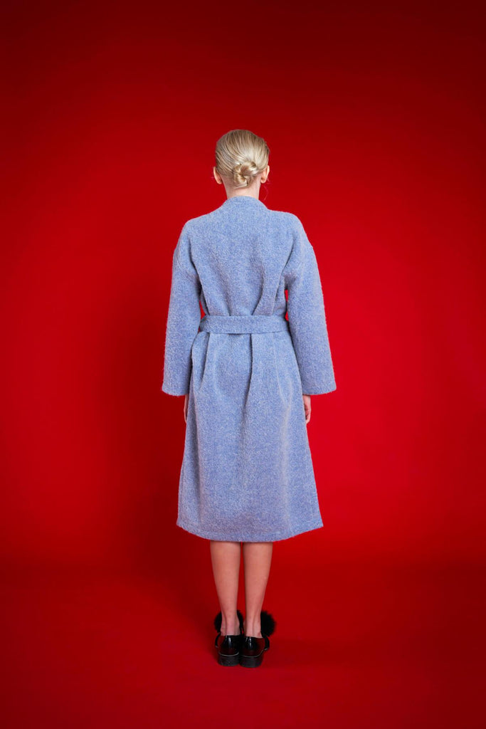 Long Embroidered Alpaca Coat