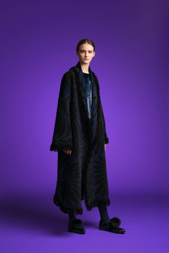 LFS FRINGED LONG COAT