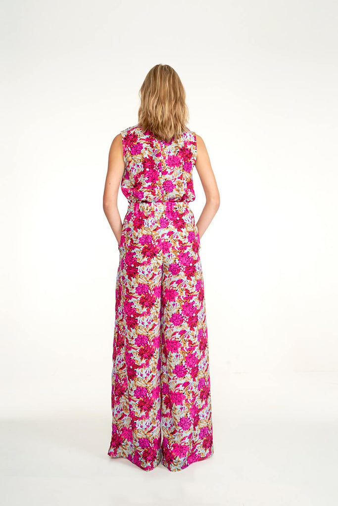 Longing-For-Sleep-by-Marit-Ilison-2020-Collection-1-Easy-Silk-Jumpsuit-In-Vintage-Light-Peonies-Back