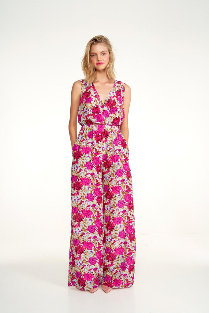 Longing-For-Sleep-by-Marit-Ilison-2020-Collection-1-Easy-Silk-Jumpsuit-In-Vintage-Light-Peonies-Front
