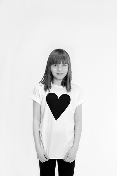 Black Heart Kids Raw Edge T-shirt