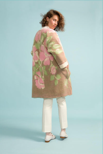 Longing For Sleep by Marit Ilison Unique Upcycled Wool Pastel Coat #49 Back