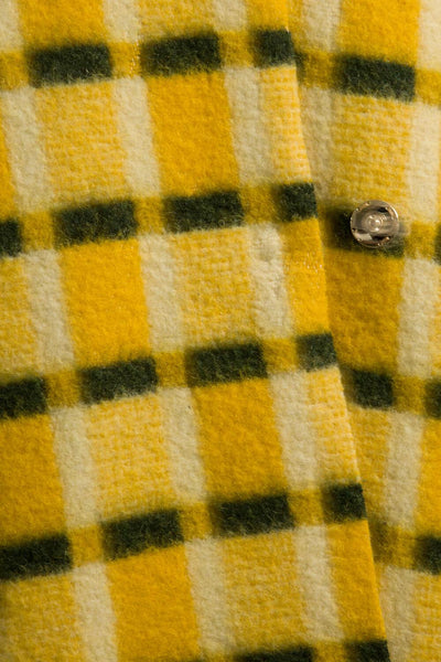 Longing For Sleep by Marit Ilison Unique Upcycled Wool Yellow Coat #53 Fabric