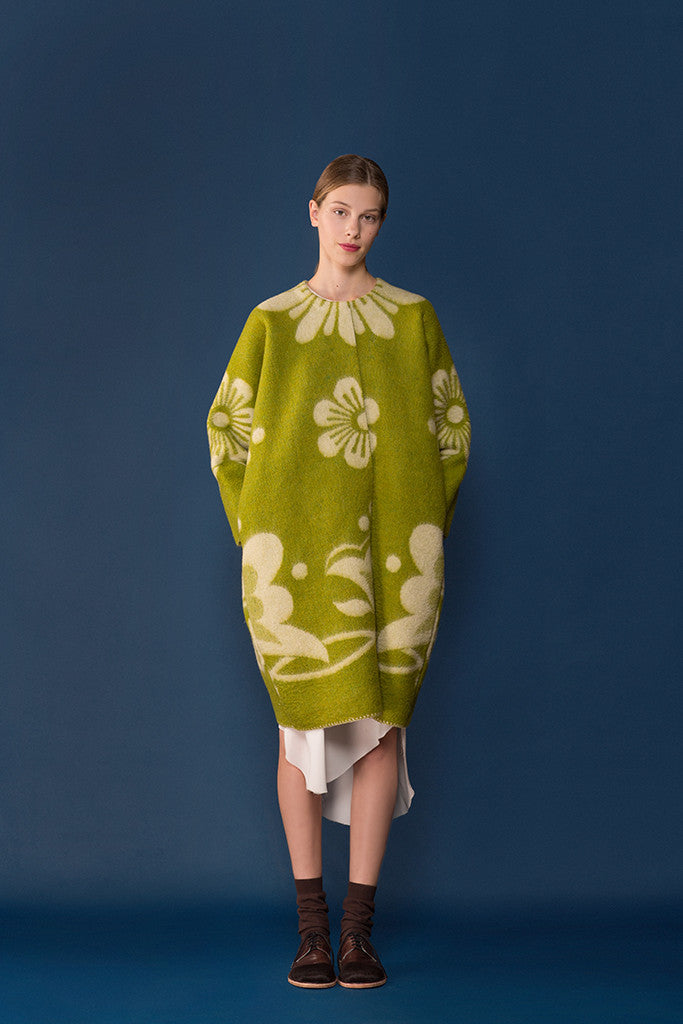 Marit Ilison Lime Wool Coat #28