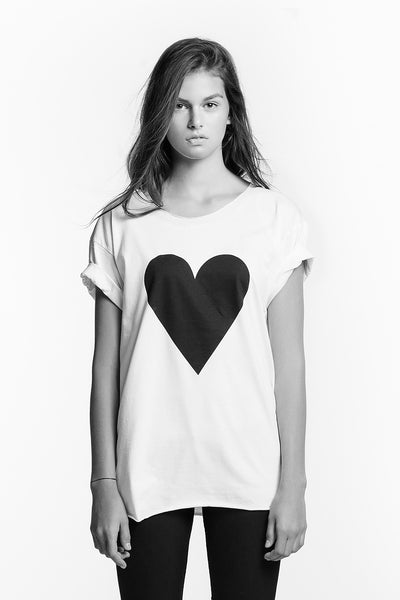 Black Heart Raw Edge T-shirt