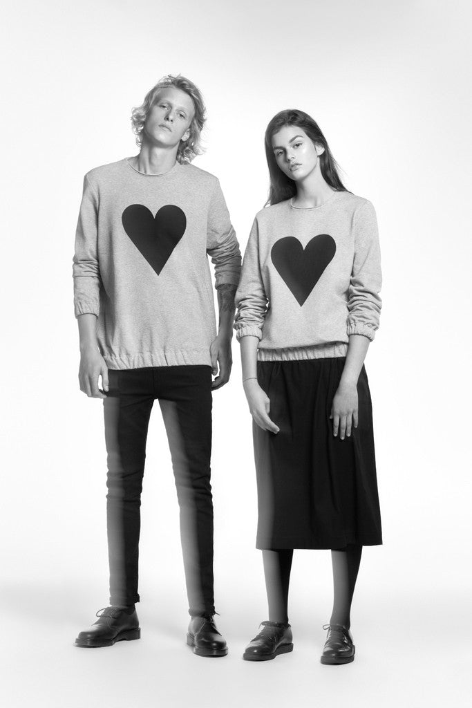 BLACK HEART Elastic Sweatshirt