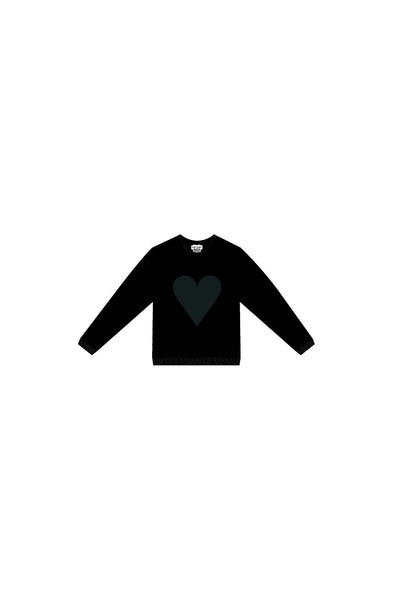 Black Heart Logo Velour Sweatshirt