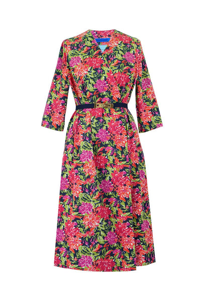 Vintage Chintz by Marit Ilison Vintage Peonies Cotton Smock Dress Front