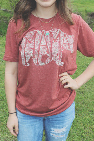 What's In A Mama Red Dirt tee