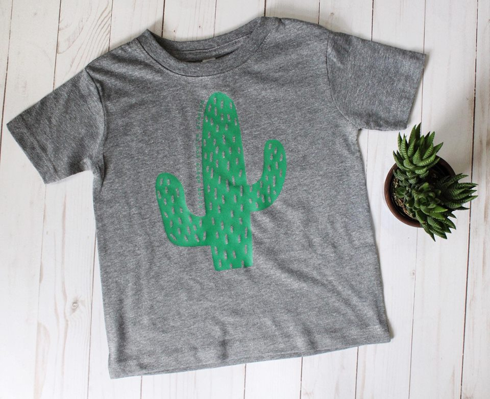 Bloom Where You're Planted Cactus kid's tee