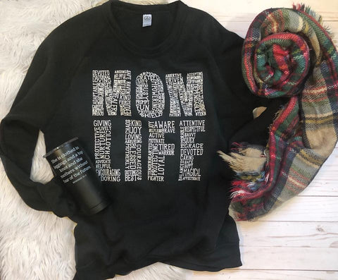 MOM LIFE sweatshirt (more colors available)
