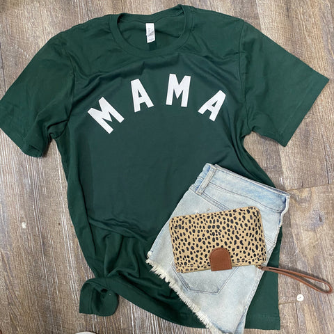 Mama Forest Green tee