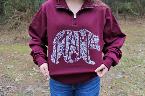What's In A Mama (Maroon) Pullover