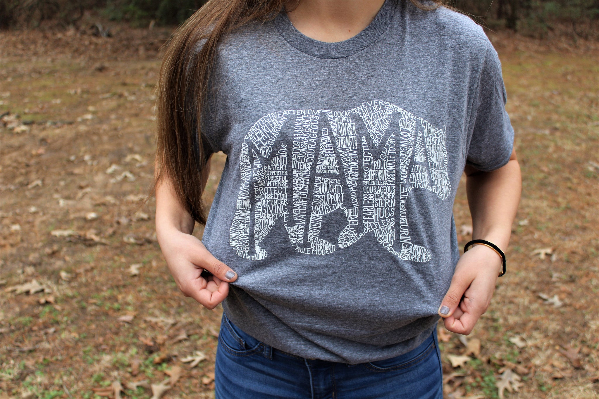 What's In A Mama -Athletic Grey Crew Neck