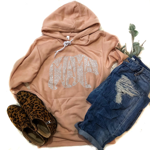What's In A Mama Dusty Rose Sponge Hoodie