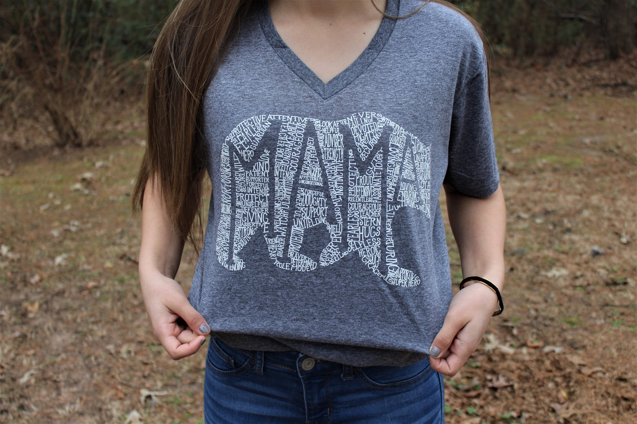 What's In A Mama Athletic Grey V-Neck