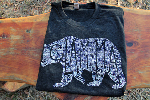 What's In A Glam-Ma Tri-Black Crew Neck