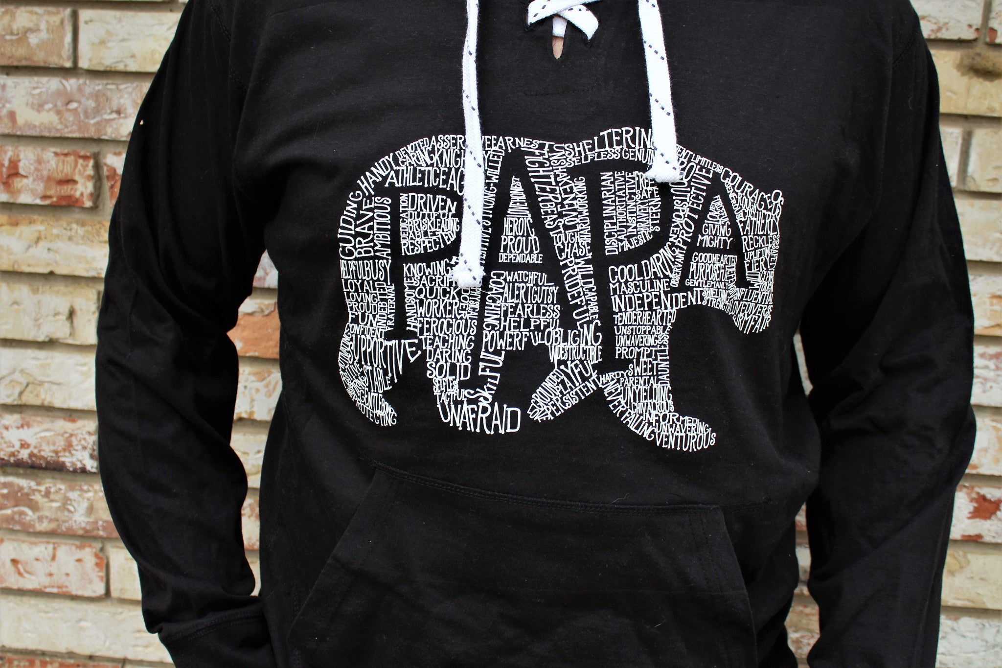 What's In A Papa Hoodie - BLACK