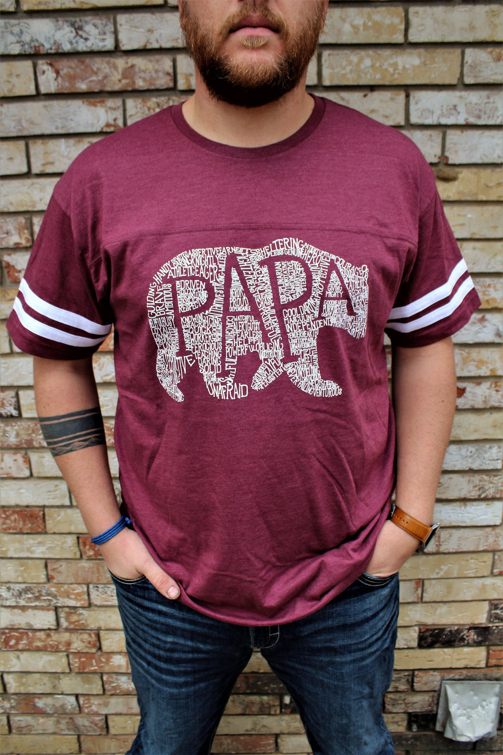 What's In A Papa Jersey - Burgundy