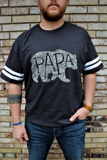 What's In A Papa Tri-Black Crew Neck