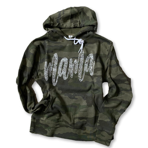 About A Mama - Camo Hoodie