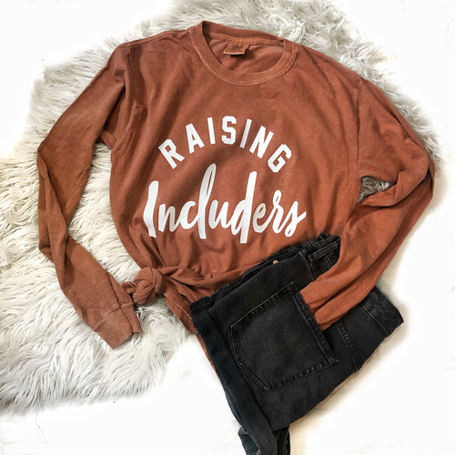 Raising Includers Comfort Colors Long Sleeve