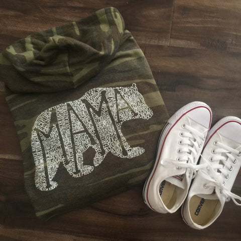 What's In A Mama Camo Eco Fleece Zip up