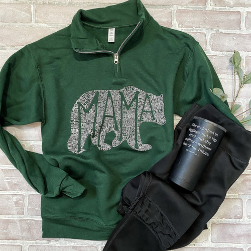 What's In A Mama (forest green) Pullover
