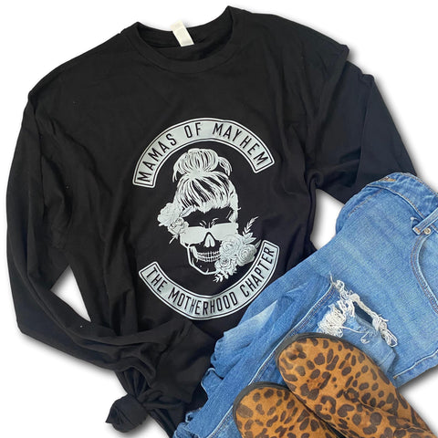 Mamas of Mayhem - Black Long Sleeve