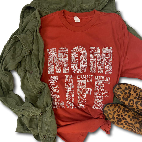 Mom Life Paprika - Short Sleeve