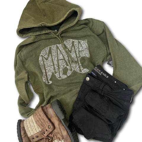 What's In A Mama - Vintage wash hoodie