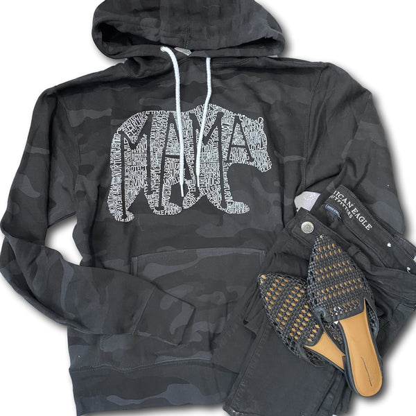 What's In A Mama - Black Camo Hoodie