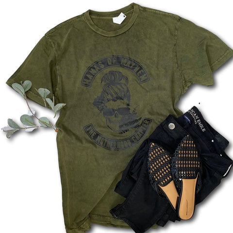 Mamas of Mayhem - Vintage army green