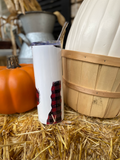 Personalized Plaid and Leopard - 20 oz stainless steel tumbler