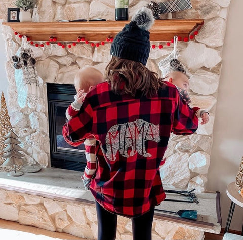 What's In A Mama - Plaid Flannel