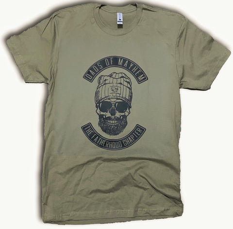 Dads Of Mayhem military green tee