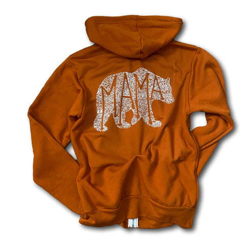 What's In A Mama - Full Zip - Burnt Orange