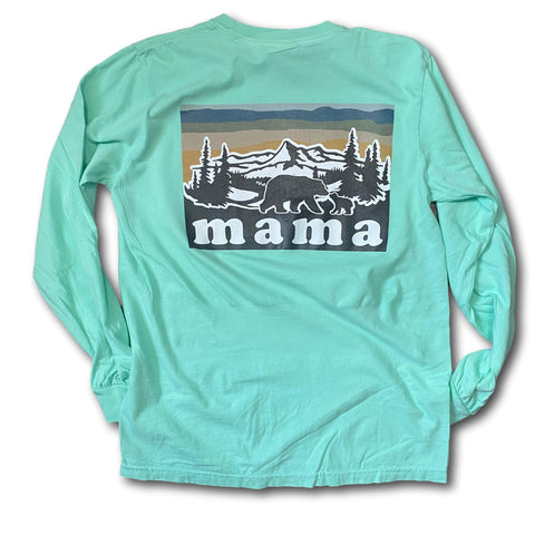 MAMA pocket - long sleeves - aqua