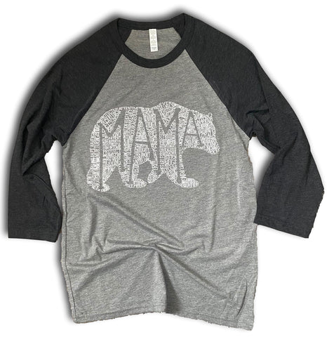 What's In A Mama grey/black raglan