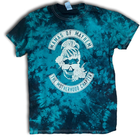 Mamas of Mayhem - Teal tie dye