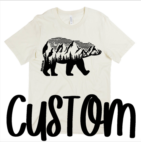 CUSTOM -  MOUNTAIN MAMA - Short SLEEVE